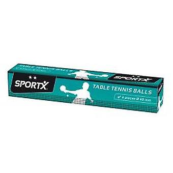 SportX Table Tennis Balls 6 pieces