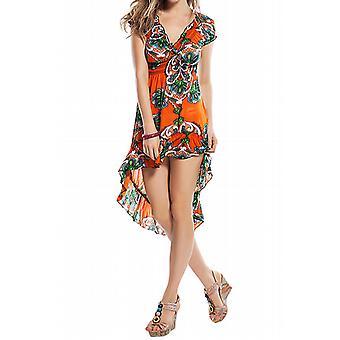 Waooh - Fashion - asymmetrisches Kleid mit Rüschen und gedruckten