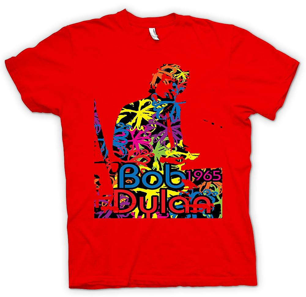 Heren T-shirt - Bob Dylan 1965 - psychedelische