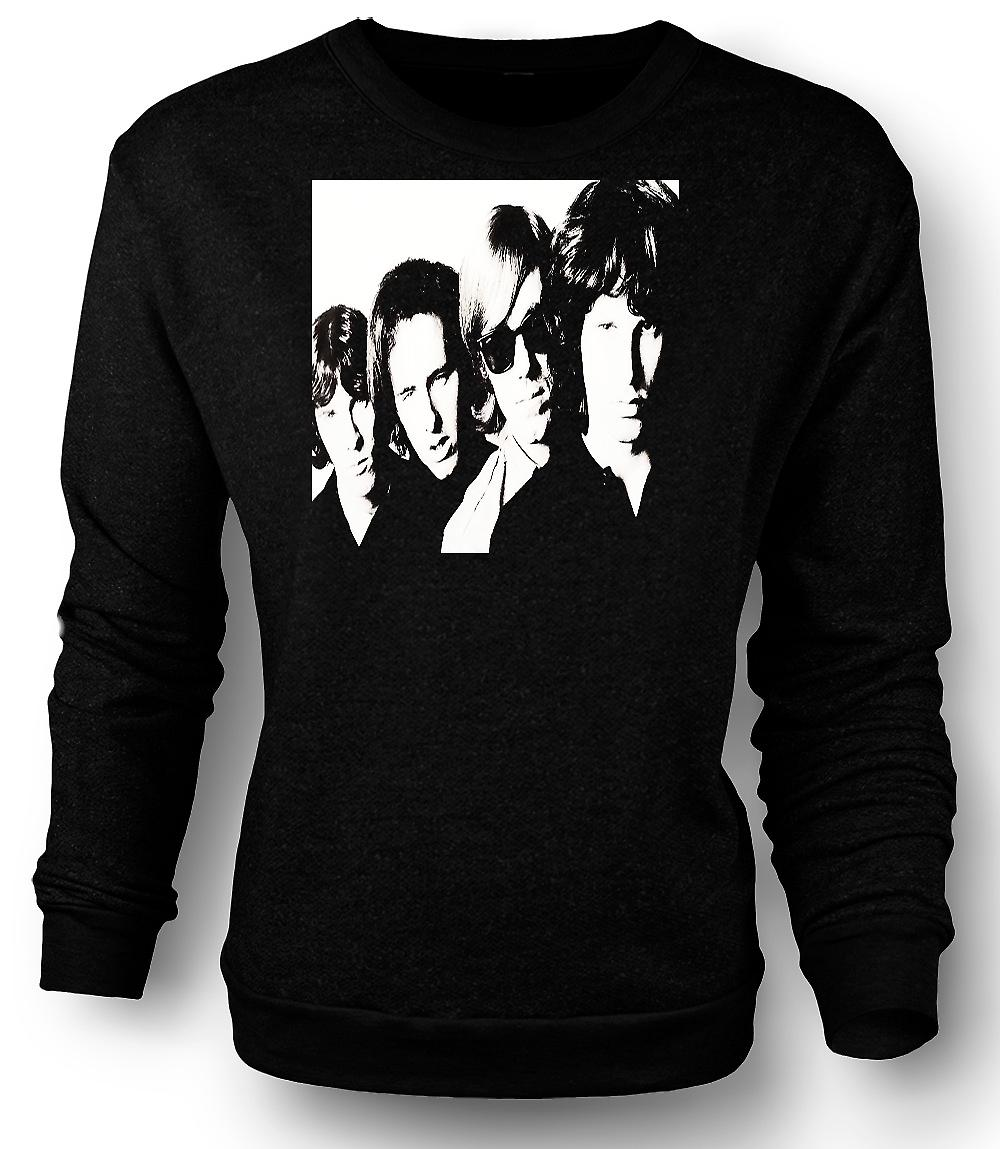 Mens Sweatshirt The Doors Band Portrait - BW
