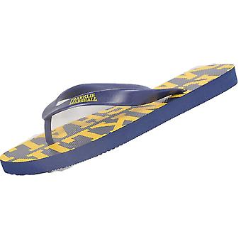 Franklin & Marshall Ua987 Unisex Rubber All Over Logo Navy Thong Sandals