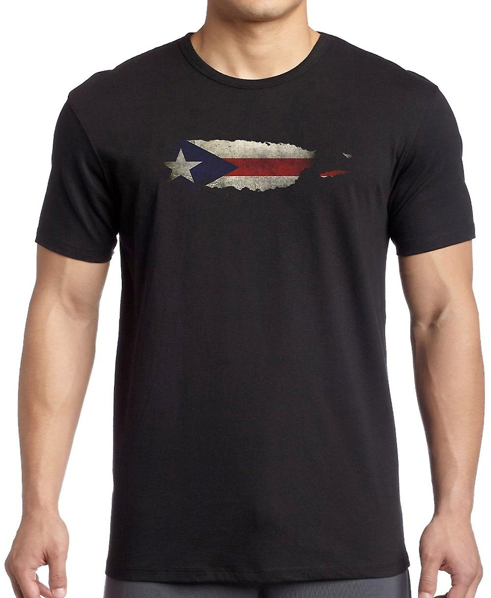 Puerto Rico Flag Map Kids T Shirt