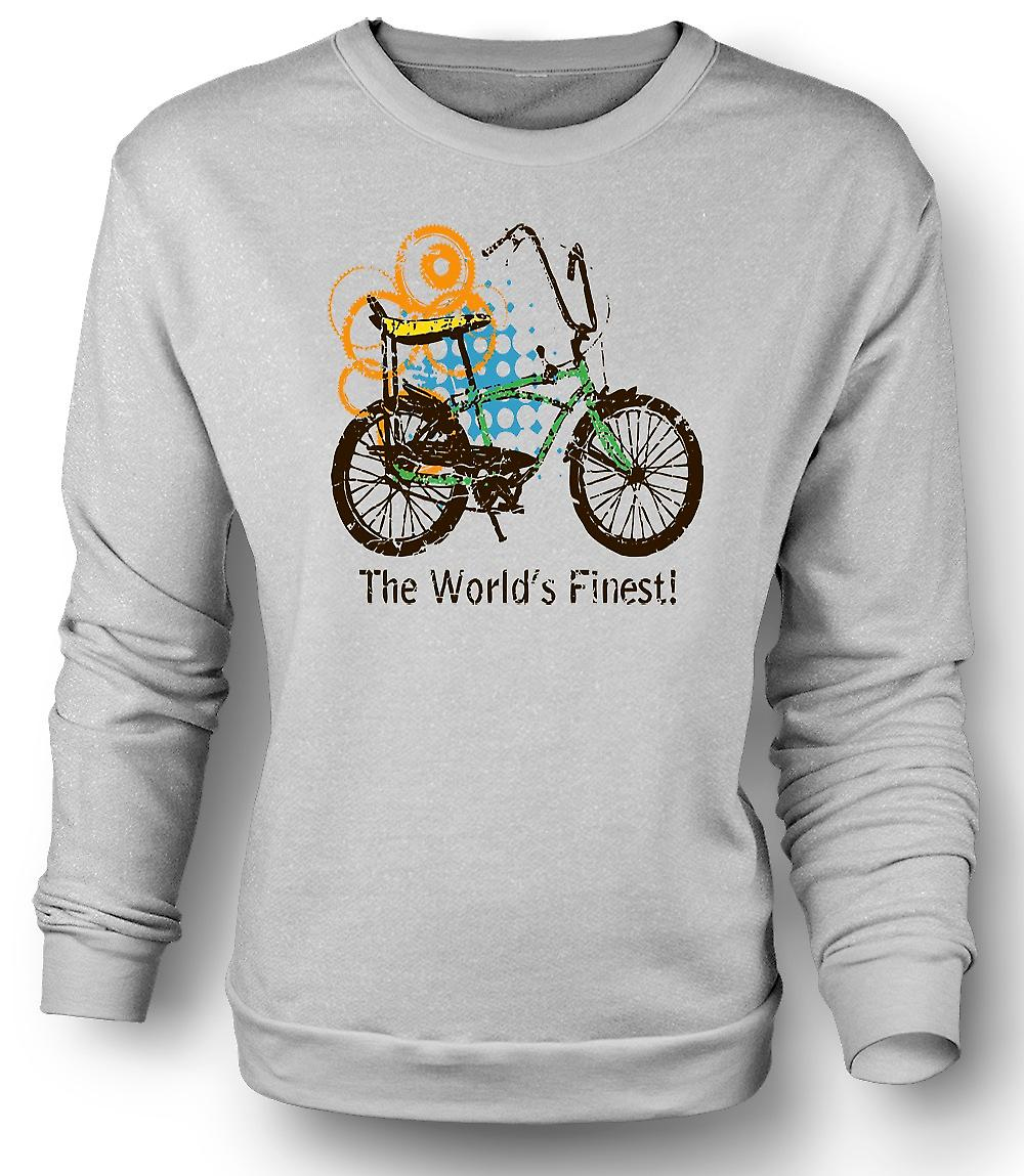 Felpa Mens Chopper Bike - il più belle del mondo - Funny Graphic Design