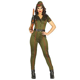 Womens Military Army Fancy Dress Costume