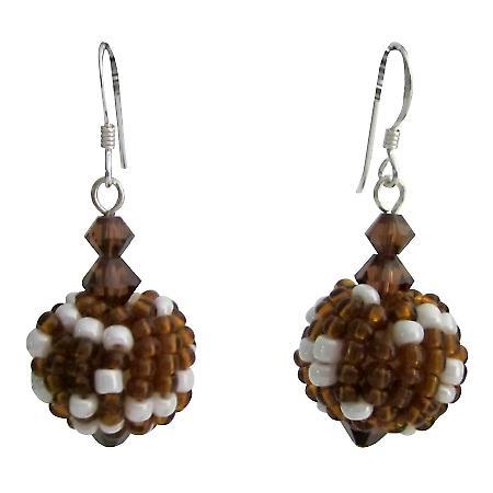 Handmade Bead Earring Best Gift Brown Combo