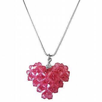 Rose Dainty känsliga svullna hjärta hänge halsband 822fbaa7f5808