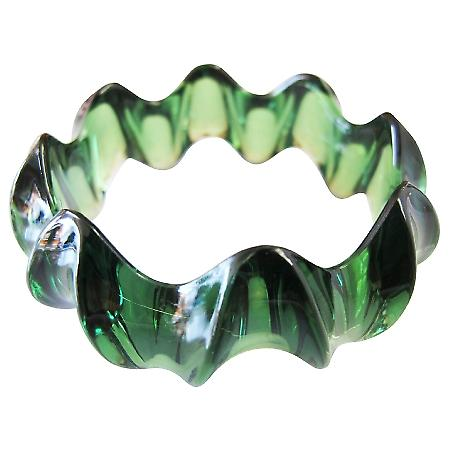 Affordable Dark Green Elegant Bangle Green Acrylic Fancy Bracelet