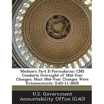 Medicare Part D Formularies CMS Conducts Oversight of MidYear Changes Most MidYear Changes Were Enhancements GAO11366R by U.S. Government Accountability Office G