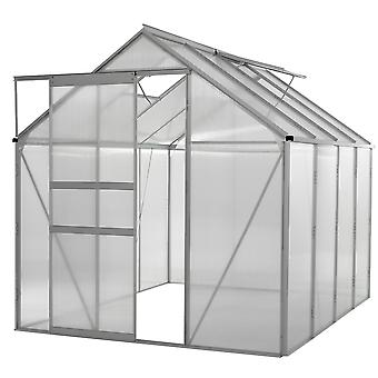 Ogrow WALK-IN 6' X 8' Lawn and Garden Greenhouse with Heavy Duty Aluminum Frame
