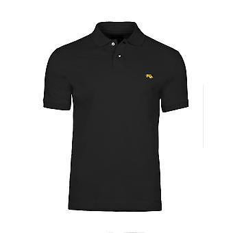 Slim Fit Plain Polo - Black