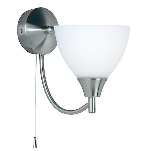 Endon 1805-1SC Switched Single Wall Light With Opal Glass