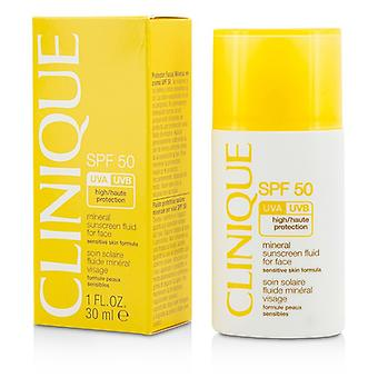 Clinique Mineral Sunscreen Fluid For Face SPF 50 - Sensitive Skin Formula 30ml/1oz