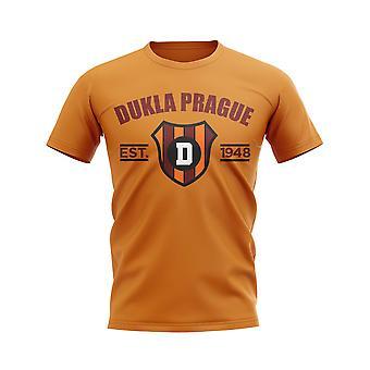 Dukla Prague Established Football T-Shirt (Orange)
