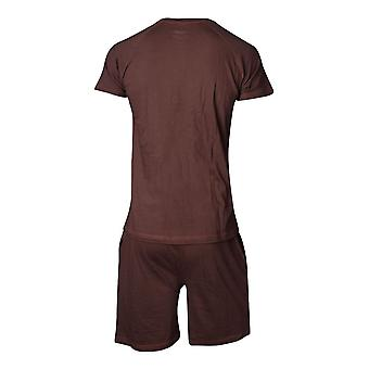 Star Wars Chewbacca Shortama Nightwear Set Male Large - Brown (SI101300STW-L)