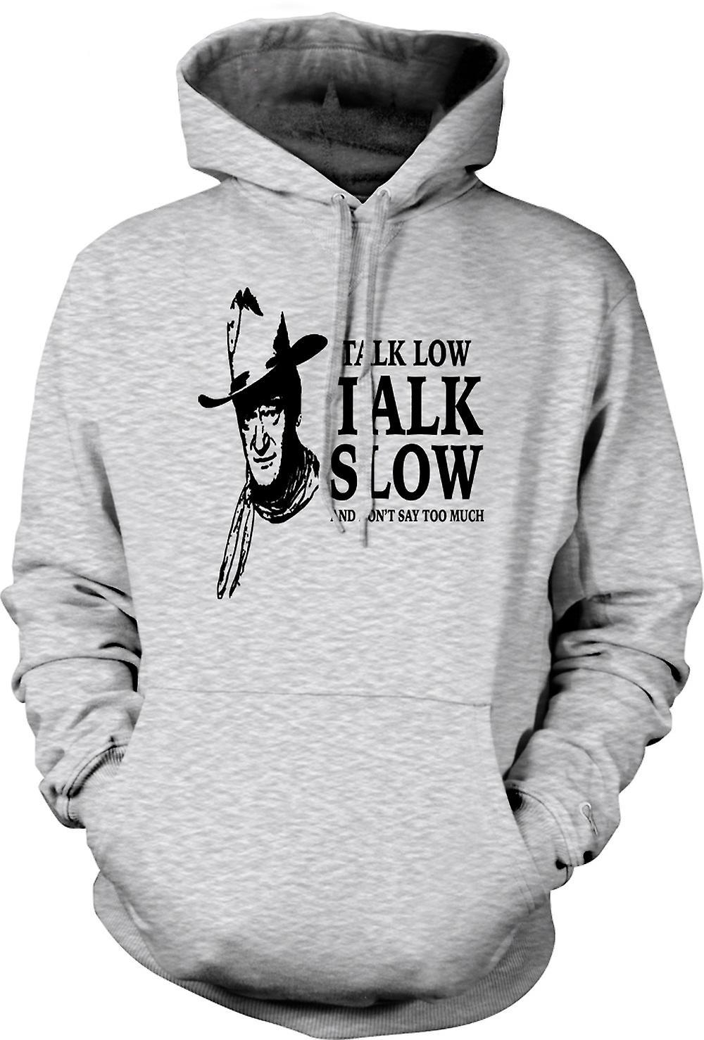 Mens Hoodie - John Wayne Talk låg - Cowboy Western
