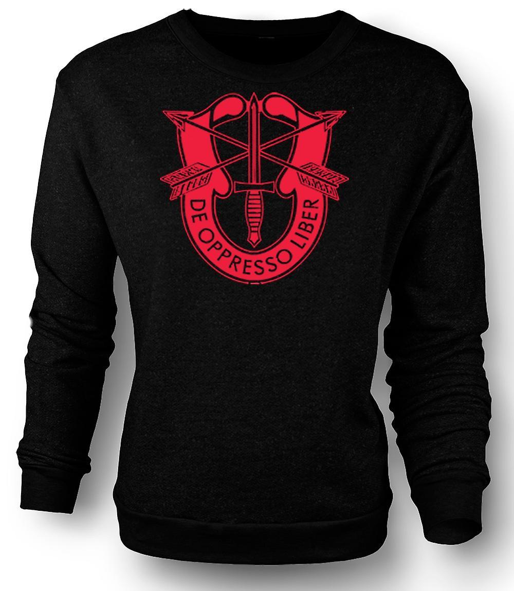 Mens Sweatshirt De Oppresso Liber US Special Forces Batch