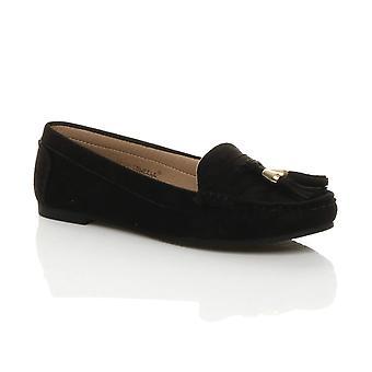 Ajvani Womens piatto basso tallone nappa intelligente mocassini lavoro casual mocassscarpe mocassa scarpe
