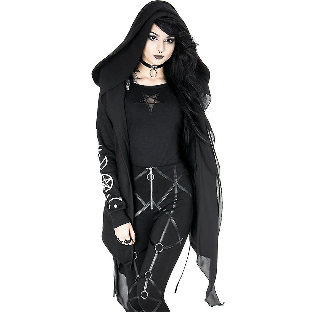 Prophet sweat à capuche long, gothic veste with overTailled hood