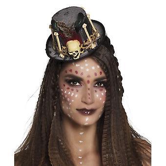 Voodoo Mini Hat on Headband Halloween Fancy Dress Accessory