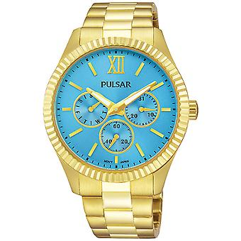 Casual Pulse Quartz Analog Woman Watch with Stainless Steel Bracelet PP6220X1