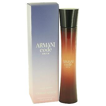 Armani code satijn door Giorgio Armani Eau de parfum spray 2,5 oz/75 ml (vrouwen)