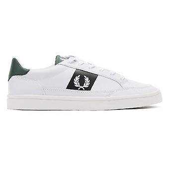 Fred Perry Deuce Mens White / Navy / Ivy Leather Trainers