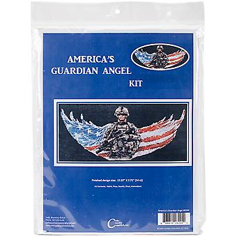 America's Guardian Angel Counted Cross Stitch Kit-17.6