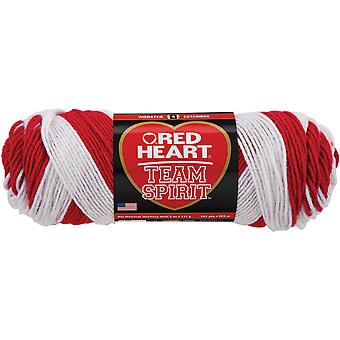 Red Heart Team Spirit Yarn Red White E797 938