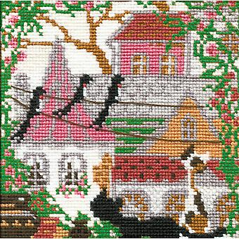 City & Cats Summer Counted Cross Stitch Kit 5