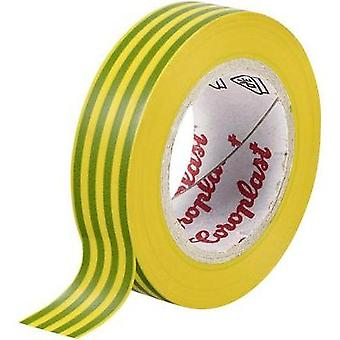 Electrical tape Coroplast Green-yellow (L x W) 25 m x 15 mm Acrylic Content: 1 Rolls
