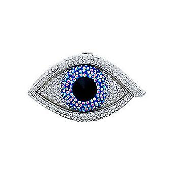Butler & Wilson Large Crystal Big Brother Eye Compact Mirror