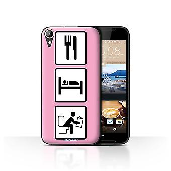 STUFF4 Case/Cover for HTC Desire 830/Poop/Pink/Eat/Sleep