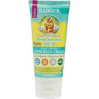 Badger Balm Baby Chamomile & Calendula Sunscreen Cream SPF30