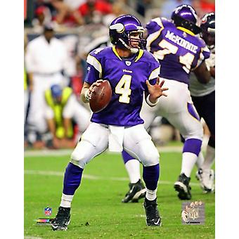 Brett Favre 2009 Action Photo Print