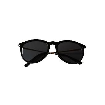 Cool black vintage urban sunglasses with tight frame