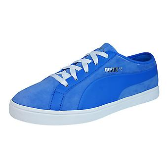 Puma Kai Lo Nubuck Womens Leather Trainers / Shoes - Blue