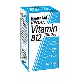Health Aid Vitamin B12 (Cyanocobalamin) 1000µg - Prolonged Release ,  100 Tablets