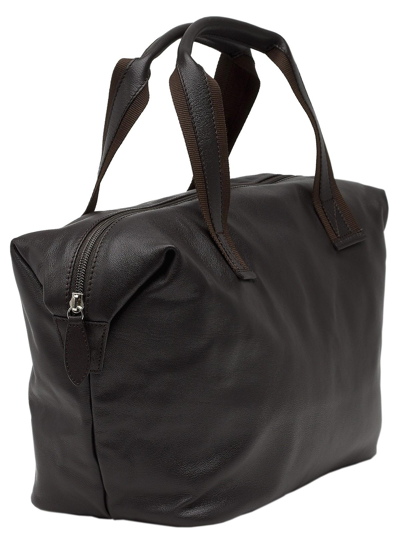 Burgmeister ladies handbag T209-515A leather dark brown