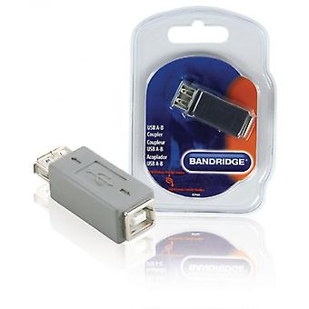 Bandridge USB 2.0 Adapter A Female-B Female Grey