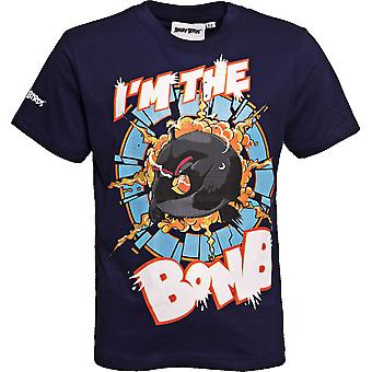 I'M THE BOMB | ANGRY BIRDS MOVIE | Official Licensed | Angry Bird T-Shirt | Age 7-8