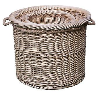 Set of 3 Deluxe Rope Handled Log Baskets