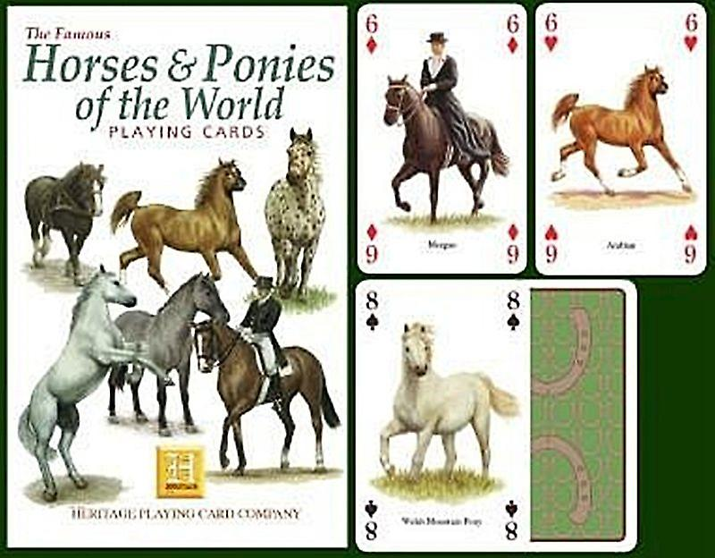 Horses & Ponies Of The World set of 52 playing cards (+ jokers)    (hpc)