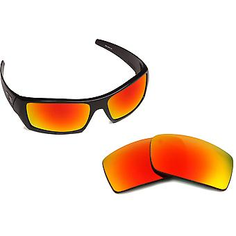 New SEEK Polarized Replacement Lenses for Oakley GASCAN Black Red Mirror
