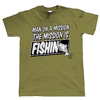 Vectorbomb, człowiek na T-Shirt misji, Funny połowów (od S do 5XL)