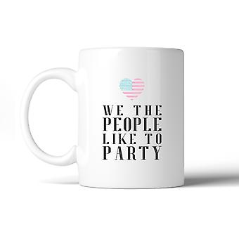 We The People Funny Design 4th Of July Ceramic Coffee Mug Gifts