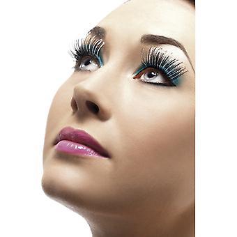 Holographic eyelashes, silver