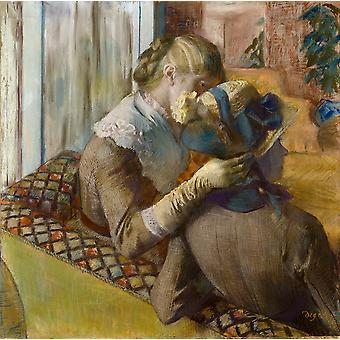 Edgar Degas - At the Milliners 1881 Poster Print Giclee