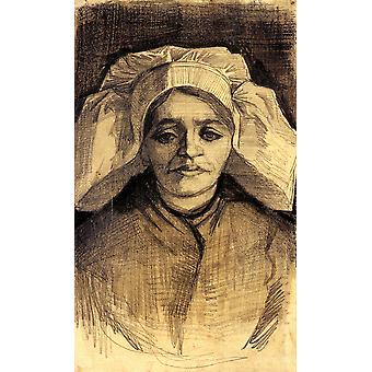 Vincent Van Gogh - Head of a Woman, 1885 02 Poster Print Giclee