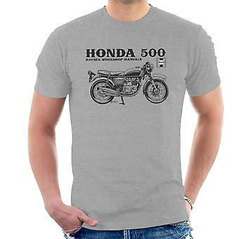 Haynes Owners Workshop Manual Honda 500 mannen T-Shirt