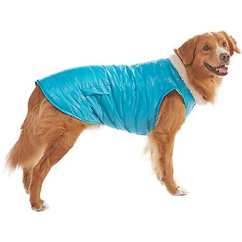 Dog Reversible Puffy Coat-Blue Medium 701635